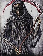 Grim Drawings - Grim Reaper Colored by Katie Alfonsi