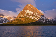Many Glacier Photos - Grinnell Point Morning by Greg Nyquist