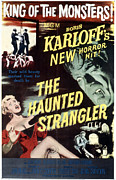 1950s Poster Art Framed Prints - Grip Of The Strangler, Aka The Haunted Framed Print by Everett