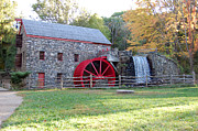 Wayside Inn Grist Mill Framed Prints - Grist Mill at Wayside Inn Framed Print by John Small
