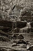 Kathleen K Parker - Grist Mill Babcock State Park - Sepia
