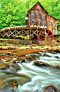 Grist Mill Posters - Grist Mill In The Forest Poster by Adam Jewell