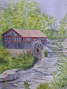Grist Mill Paintings - Grist Mill by Jerry Zelle