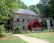 Wayside Inn Grist Mill Framed Prints - Grist Mill  Massachusetts Framed Print by Patricia Urato