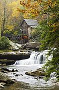 Autumn Leaves Metal Prints - Grist Mill No. 2 Metal Print by Harry H Hicklin