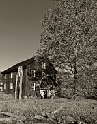 Grist Mill Prints - Grist Mill sepia Print by Steve Harrington