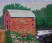 Grist Mill Paintings - Grist Mill by Stan Hamilton