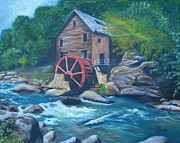 Grist Mill Paintings - Grist Mill by Tersia Brooks
