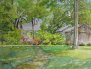 Old Barn Paintings - Griswold House View From the River by B Rossitto