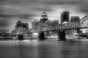 Monotone Prints - Gritty City Print by Steven Ainsworth