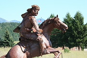 Iron  Sculpture Originals - Grizzly Jack of the Rockies by Alan Derber