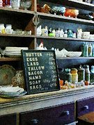 Blackboards Prints - Groceries in General Store Print by Susan Savad