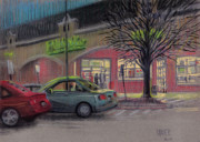 Car Pastels Prints - Grocery Shopping Print by Donald Maier