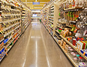 Grocery Store Prints - Grocery Store Aisle Print by David Buffington