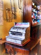 Groceries Framed Prints - Grocery Store Cash Register Framed Print by Susan Savad