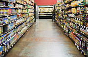Prepared Prints - Grocery Store Isle Print by Andersen Ross