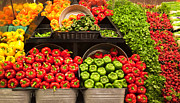Grocery Store Prints - Grocery Store Produce Aisle Print by David Buffington