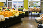 Grocery Store Prints - Grocery Store Produce Section Print by Andersen Ross