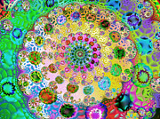Patterned Digital Art Posters - Groovy Poster by Sharon Lisa Clarke