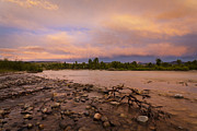 Gros Ventre Art - Gros Ventre River Sunset by Mike Cavaroc