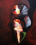 Slot Canyon Painting Originals - Grotto by Bonnie Kelso