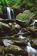 Gsmnp Prints - Grotto Falls Print by Alan Lenk