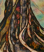 Tree Roots Tapestries - Textiles Prints - Grounded Print by Doria Goocher