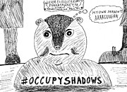 Groundhog Drawings - Groundhog Day 2012 cartoon by Yasha Harari