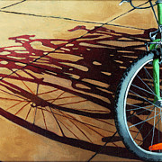 Linda Apple - Group Hug - bicycle art