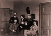 1880s Photos - Group In James Mcneill Whistlers London by Everett