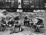 Boxcar Photos - GROUP OF HOBOES, 1920s by Granger