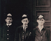 Lewis Wickes Hine Prints - Group Of Messenger Boys, Original Title Print by Everett