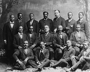 Jim Crow South Framed Prints - Group Portrait Of The Ministers Class Framed Print by Everett