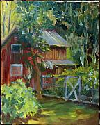 Farm Buildings Painting Originals - Grove Curio Museum by Pamela Geiger