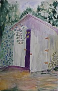 Shed Painting Prints - Grove Road Print by Stella Schaefer
