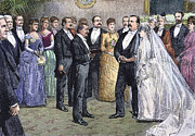 First Couple Prints - Grover Cleveland: Wedding Print by Granger