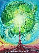 Tree Mandala Originals - Grow And Develop Yourself by Wanda Sawicka