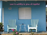Rocking Chairs Photos - Grow Old Together 1 by Stav Stavit Zagron