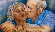 Embrace Paintings - Grow Old with Me by Debra Bucci