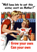 Historic Garden Posters - Grow Your Own Can Your Own  Poster by War Is Hell Store