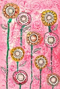 Fuschia Mixed Media Prints - Grow Print by Zoe Ford