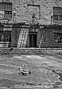 Derelict Prints - Growing Up...An Economics Tale bw Print by Steve Harrington