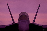 Fa-18 Posters - Growler at Dusk Poster by Clay Greunke