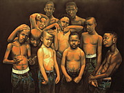 African American Pastels Metal Prints - Grown Babies Metal Print by Curtis James