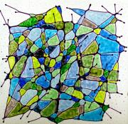 Art Glass Mosaic Glass Art - Growth by Louis Copper