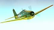 Grumman F6f Hellcat K29   2011 Chino Air Show Print by Gus McCrea