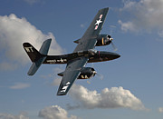 Classic Aircraft Prints - Grumman Tigercat Print by Pat Speirs