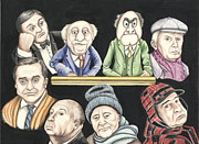Hitchcock Posters - Grumpy old men Poster by Margaret Sanderson