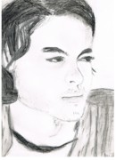 Young Man Drawings - Grunge by Allison Jones