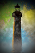 Lighthouse Digital Art - Grunge Lighthouse by Bill Cannon